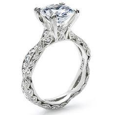 Tacori Criss-Cross Channel-Set & Pave Diamond Setting - Item#: T 2578RD by Since1910.com Jewelers, via Flickr