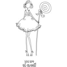 Stamping Bella Unmounted Rubber Stamp-Uptown Girl Claudia Has A Candy: Amazon.co.uk: Kitchen  Home