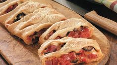 """The ingredients say """"pizza"""", but the shape says fun!  The kids can help with this one."""