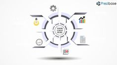 3D white infographic circle prezi template