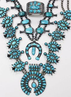 Number 8 mine turquoise and silver jewelry from Perry Null Trading
