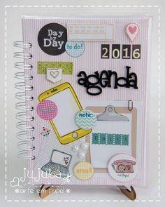 jujubaarteempapel Agenda 2016 - Para Erica, uma agenda delicada, alegre e que combine com seu dia-a-dia!
