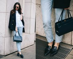 Beatrice Gutu - Blazer, Top, Jeans, Bag, Shoes - On Point