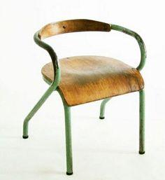 vintage olive/wood chair by christine