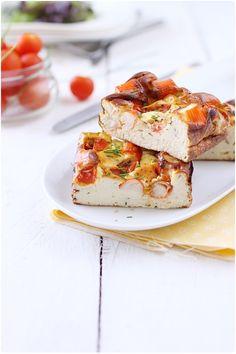 Clafoutis au surimi et tomates cerise