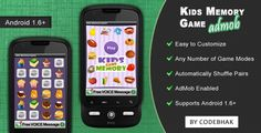 Buy Kids Memory Game with AdMob by codebhak on CodeCanyon. New Android Memory Game is Here Kids Memory Game is an Android game application. Android O, Mobile App Templates, Memory Games For Kids, Game Codes, Photoshop Design, Matching Games, Coding, Memories, Messages