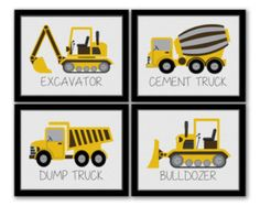 Construction Art Kids Wall Art Construction Decor