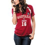 Women's San Francisco Joe Montana Majestic Scarlet Hall Of Fame Relentless Pressure T-Shirt 49ers Outfit, Forty Niners, Joe Montana, San Francisco 49ers, Scarlet, Relentless, Plus Size, Clothes For Women, Tank Tops