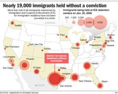 Immigrant detainees without conviction population