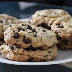 """Best Big, Fat, Chewy Chocolate Chip Cookie I """"I think this are the best chocolate chip cookies EVER! They are so yummy: the taste, texture, thickness and sweetness is just perfect! I loved them. Köstliche Desserts, Delicious Desserts, Dessert Recipes, Easy Tasty Recipes, Potluck Recipes, Plated Desserts, Chewy Chocolate Chip Cookies, Brownie Cookies, Chocolate Chips"""