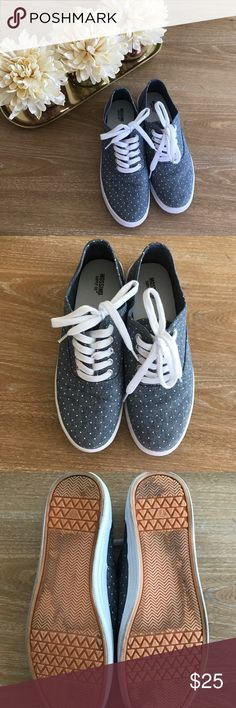 MOSSIMO POLKA DOTS SNEAKERS 💗Condition: EUC, No flaws, no rips, holes. Stains reflected on pictures. Used only once.  💗Smoke free home/Pet hair free 💗No trades, No returns 💗No modeling  💗Shipping next day. Beautiful package! 💗I LOVE OFFERS, offer me! 💗ALL ITEMS ARE OWNED BY ME. NOT FROM THRIFT STORES 💗All transactions video recorded to ensure quality.  💗Ask all questions before buying Shoes Sneakers