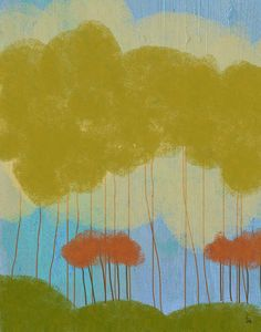 Tree Landscape 2 Painting Print on Wrapped Canvas