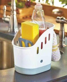Sink-Caddy-Kitchen-Dishwash-Organizer-Sponge-Dish-Brush-Holder-Plastic-Strainer