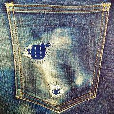 Denim repair - this can't have been easy at all