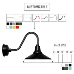 Customizable Calla Indoor/Outdoor LED Barn Light