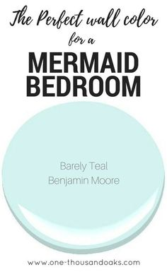 coastal bedrooms This is the perfect Mermaid Bedroom Paint color! It creates a relaxing coastal feel and provides a relaxing haven in any little girls room. Girls Room Paint, Bedroom Paint Colors, Paint Colors For Home, Bathroom Colors, Kids Bedroom Paint, Colors For Girls Bedroom, Playroom Paint Colors, Pastel Bathroom, Coastal Paint Colors