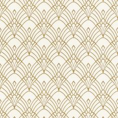 "Newest Free Modern Art Art Deco Astoria Wallpaper White / Gold Rasch 433913 Popular ""The Fantastic – what seems like pomp and luxury is connected with extravagant lifestyl Wallpaper Art Deco, Trendy Wallpaper, Pattern Wallpaper, Wallpaper Crafts, Classic Wallpaper, Screen Wallpaper, Estilo Art Deco, Design Set, Art Deco Design"