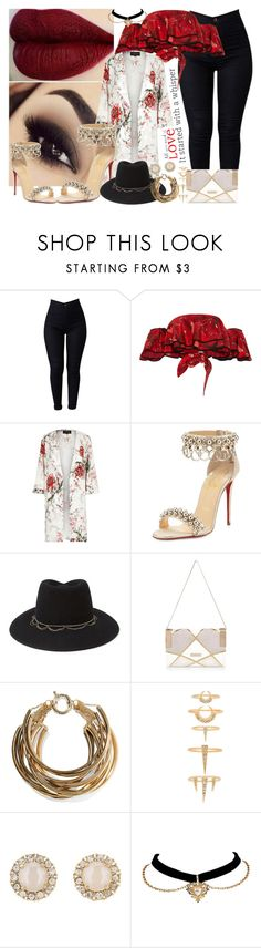 """""""It started with a whisper"""" by lady-williams ❤ liked on Polyvore featuring Johanna Ortiz, River Island, Christian Louboutin, Forever 21, Rosantica, Luv Aj, Kate Spade and Brewster Home Fashions"""