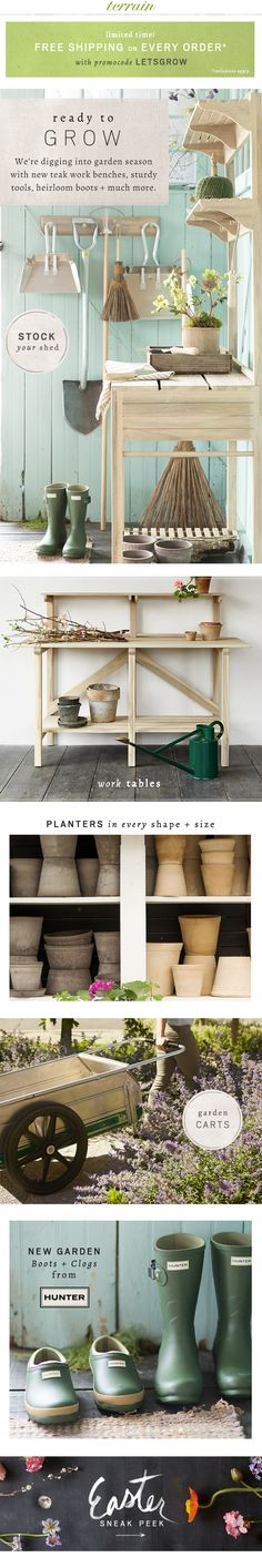 Get ready to #grow with potting shed essentials at #shopterrain February 21