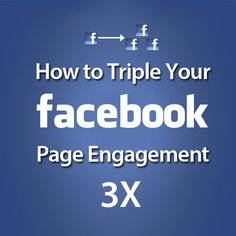 How to Triple Your Facebook Engagement: http://fbadvance.com/triple-your-facebook-engagement/  #Facebook #FacebookTips #FacebookMarketing