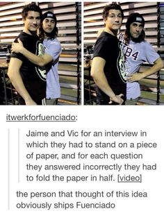haha lol Vic and Jaime This is the link to the interview BTW: http://youtu.be/GnFfEDq1JM0