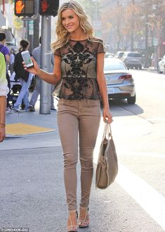 Shouldn't you be in Miami? Real Housewives star Joanna Krupa looked in fine form in Beverly Hills on Wednesday