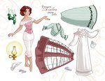 Princess Paper Dolls -sheet 1 by BetterthanBunnies