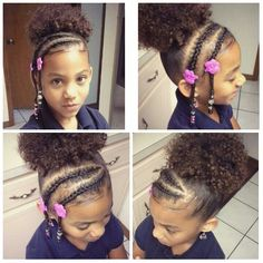 Children's Natural Hairstyles Fascinating Pinlexi Mooresimms On Natural Hair  Pinterest  Hair Style