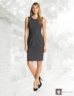 Anne Klein Women's Sleeveless Directional Stripe Sheath Dress