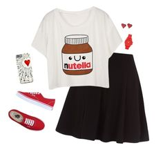 """""""Nutella is Life"""" by hanakdudley ❤ liked on Polyvore featuring Vans, Vince Camuto, women's clothing, women's fashion, women, female, woman, misses and juniors"""
