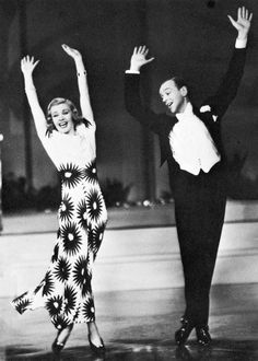 """Ginger Rogers and Fred Astaire in """"Shall we dance"""", 1937"""