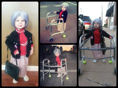 day of school coming up! Little Girl Costumes, Kids Costumes Girls, Costumes For Women, Twin Halloween, Halloween 2013, Halloween Costumes, Halloween Ideas, Old Lady Costume, Dress Up Costumes