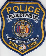 ELLICOTTVILLE NEW YORK POLICE PATCH