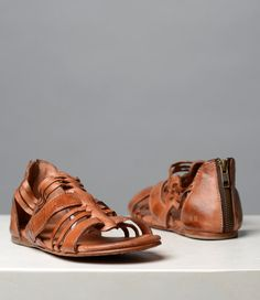 CARA  COGNAC part of BED|STÜ Organics collection  • Chrome free, vegetable tanned leather upper • Handmade by Real People • Hand stitched leather outsole