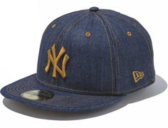 2b1b23b7372e8 New York Yankees Indigo Denim 59Fifty Fitted Cap by NEW ERA x MLB Vintage Baseball  Caps
