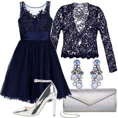 3e04a52944 Cerimonia in blu: outfit donna Bon Ton per cerimonia e serata fuori | Bantoa