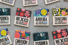 Macondo Chocolate Co         on          Packaging of the World - Creative Package Design Gallery Co Design, Label Design, Branding Design, Graphic Design, Package Design, Chocolate Cacao, Chocolate Brands, Divine Chocolate, Organic Chocolate