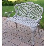 Oakland Living - Mississippi Cast Aluminum Loveseat Bench - 2006-BS  SPECIAL PRICE: $273.33