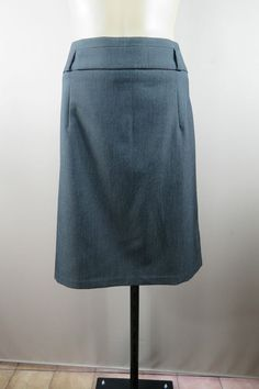 Professional Stylish Timeless Size L 14 Ladies Grey Skirt Pencil Straight Chic Office Business Corporate Style
