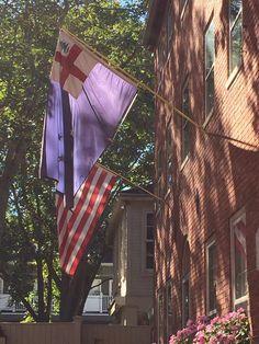 New England Colonial Flag 1737 New England Flag, New England Homes, Cape Cod, Colonial, Fair Grounds, Fun, Travel, Cod, New England Houses