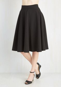 Bugle Joy Skirt in Black From the Plus Size Fashion Community at www.VintageandCurvy.com