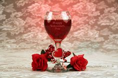 Valentine's Day Wine Glass Gel Candle. Pretty gel candles made from ordinary wine glasses for Valentine's Day, are an easy and fun project to make for home or as a party centerpiece.   http://www.etchtalk.com/Item/valentines-day-wine-glass-gel-candle