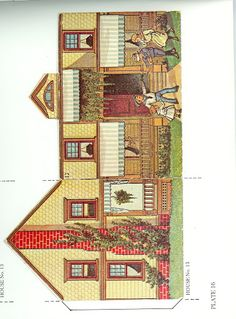 The Pretty Village by the McLoughlin Brothers - Dover Publications Inc., 1983: Plate 16 (of 24)