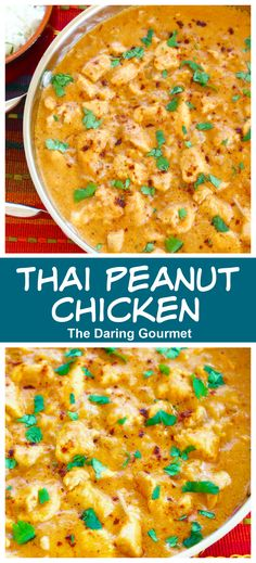 This delicious Thai Peanut Chicken is positively PACKED with flavor! Quick and easy to make and thoroughly satisfying!