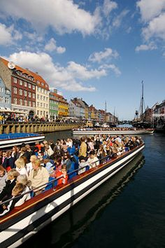 Take a boat trip in Nyhavn and see the canals of the Central Copenhagen. Denmark Tourism, Denmark Travel, Copenhagen Travel, Copenhagen Denmark, Capital Of Denmark, Baltic Cruise, New Architecture, Scandinavian Countries, City Vibe