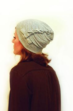 Twisted slouch hat pattern.. you could use an old t-shirt as well as fabric..