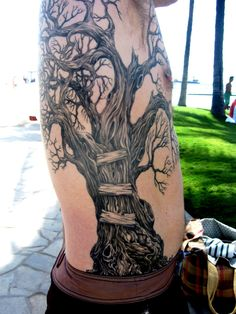 tree tattoos for men | young man from Seattle caught my eye.