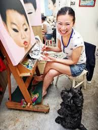 Poh Ling Yeow a Malaysian-born Australian artist, actress and runner-up in MasterChef Australia. Masterchef Australia, Portraits, Portrait Art, Acrylic Painting Lessons, Painting Canvas, Art Rules, Aboriginal Art, Australian Artists, Art Music