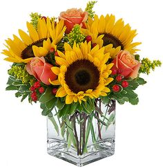 Sunflower Arrangements | Canada Flowers > Birthday > Birthday Flowers > Shine Bright #12