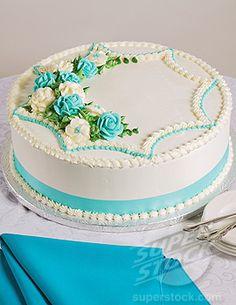 one layer round wedding cake | stock photo decorated single layer wedding cake credit foodcollection ...